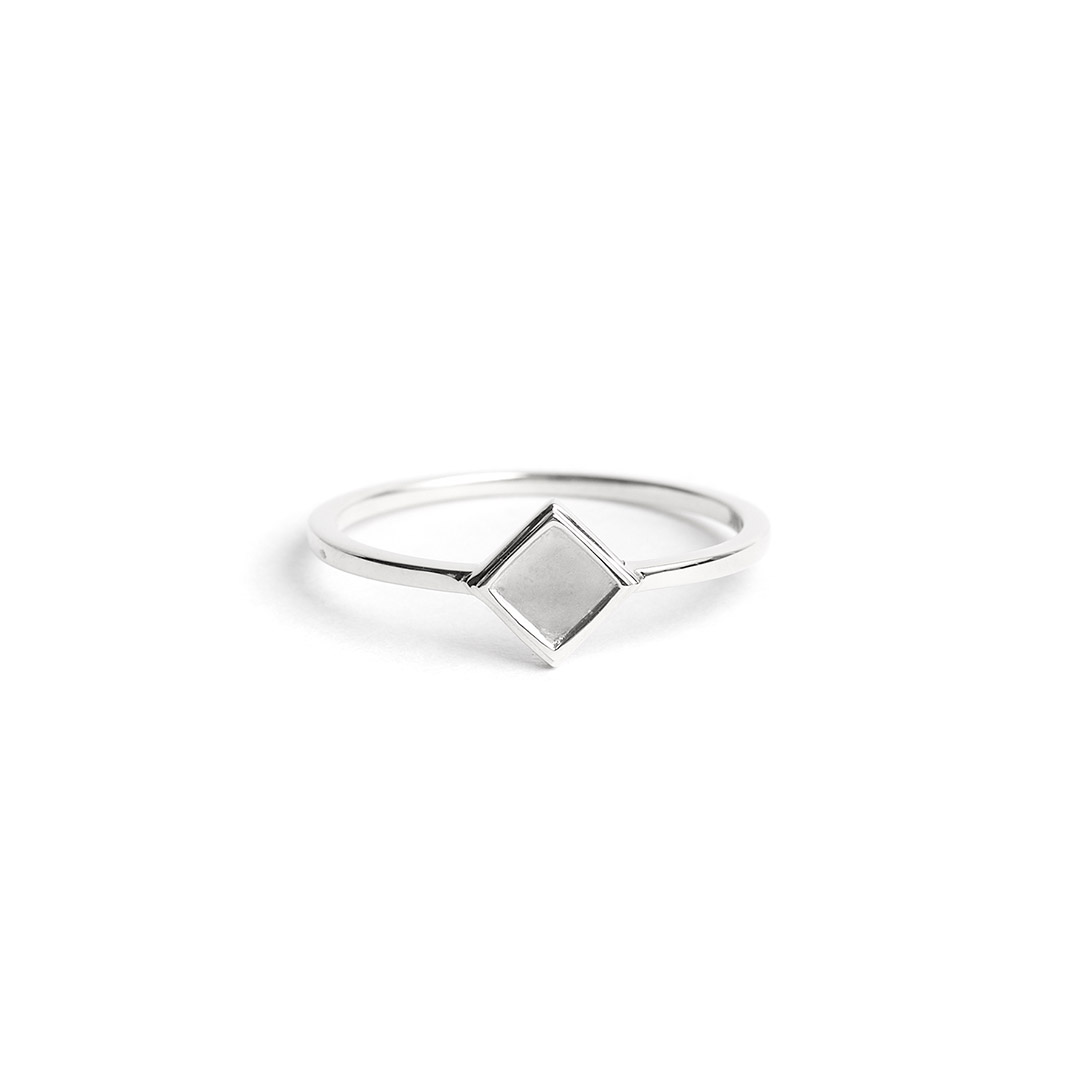 Rhombus Ring, Silver by The Straits Finery on curated-crowd.com