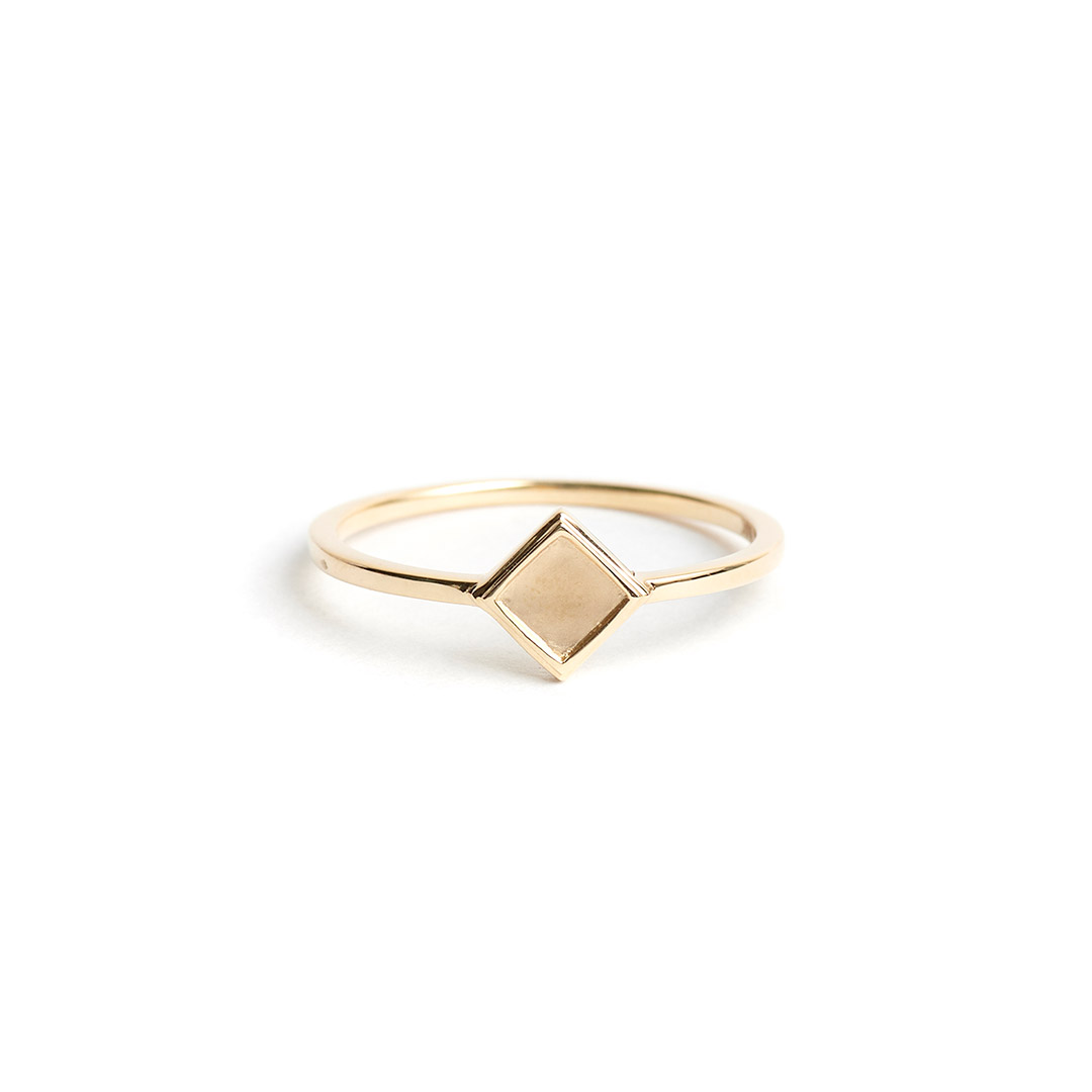 Rhombus Ring, 14k Gold by The Straits Finery on curated-crowd.com