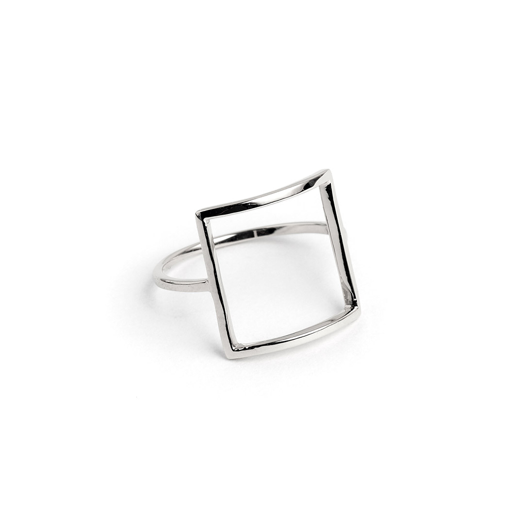 Frame Ring, Silver by The Straits Finery on curated-crowd.com