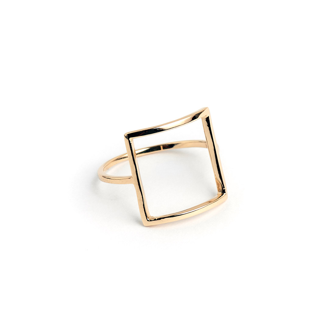Frame Ring, Gold by The Straits Finery on curated-crowd.com