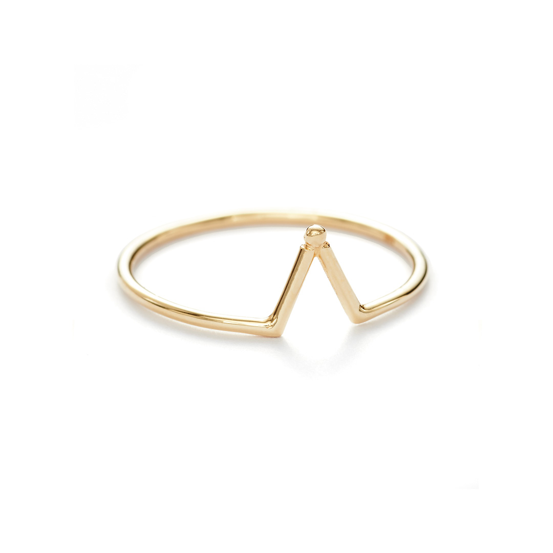 Matahari Ring, 14k Gold by The Straits Finery on curated-crowd.com