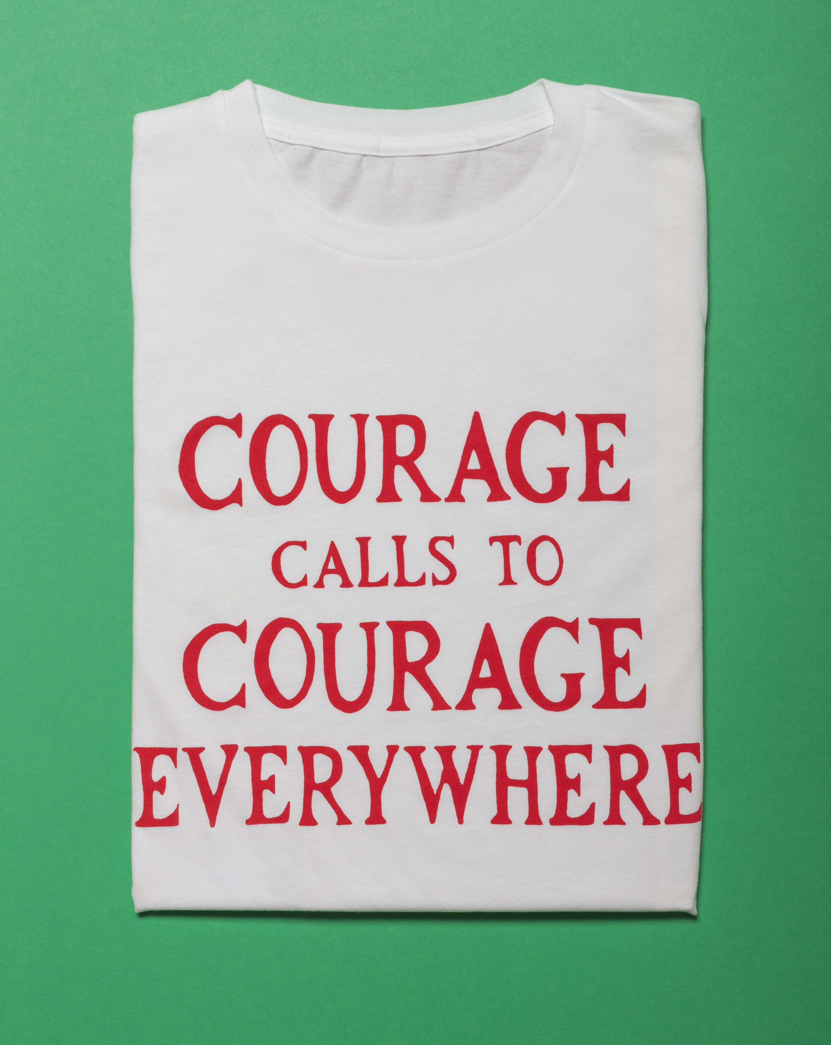 Gillian Wearing Courage Calls T-Shirt by Plinth on curated-crowd.com
