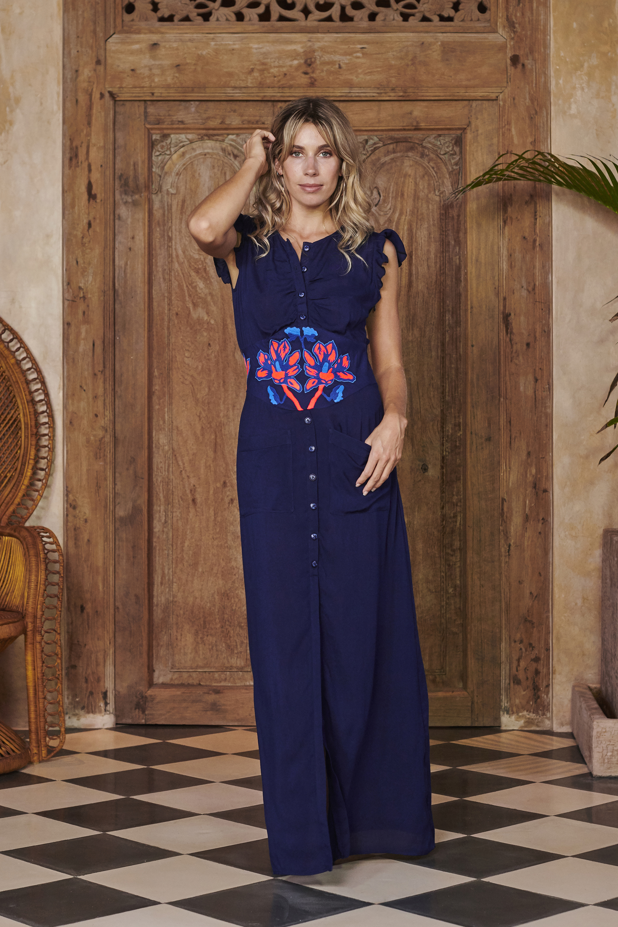 Queen Dress in Navy by Akosée on curated-crowd.com
