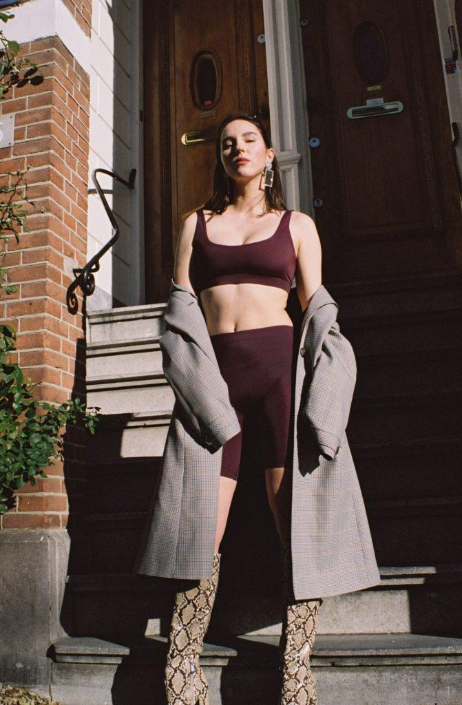 The Artemis Top - Dark Purple by Aya Label on curated-crowd.com