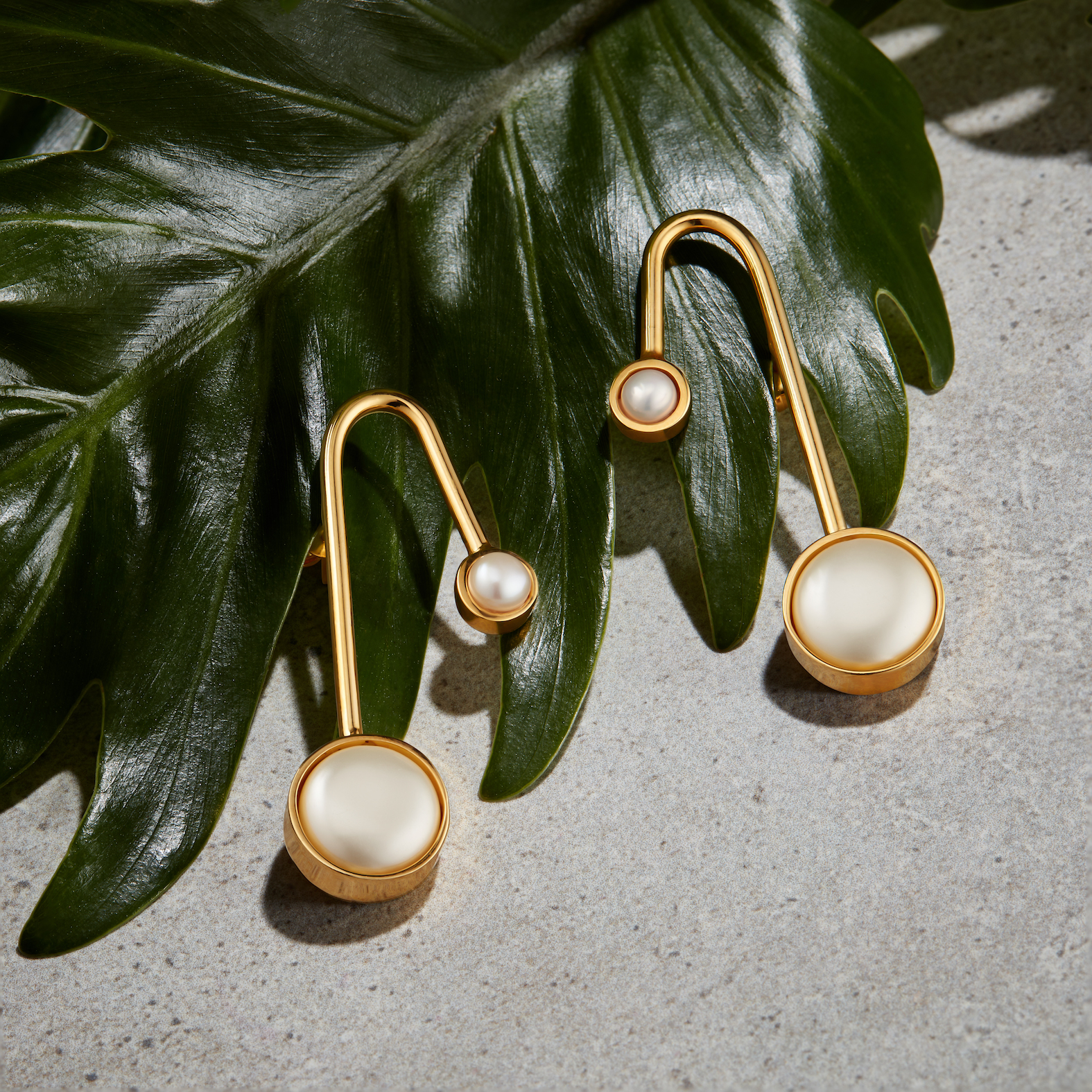 Xochi Petite Earrings, Two Pearls by Jill Hopkins Jewellery on curated-crowd.com
