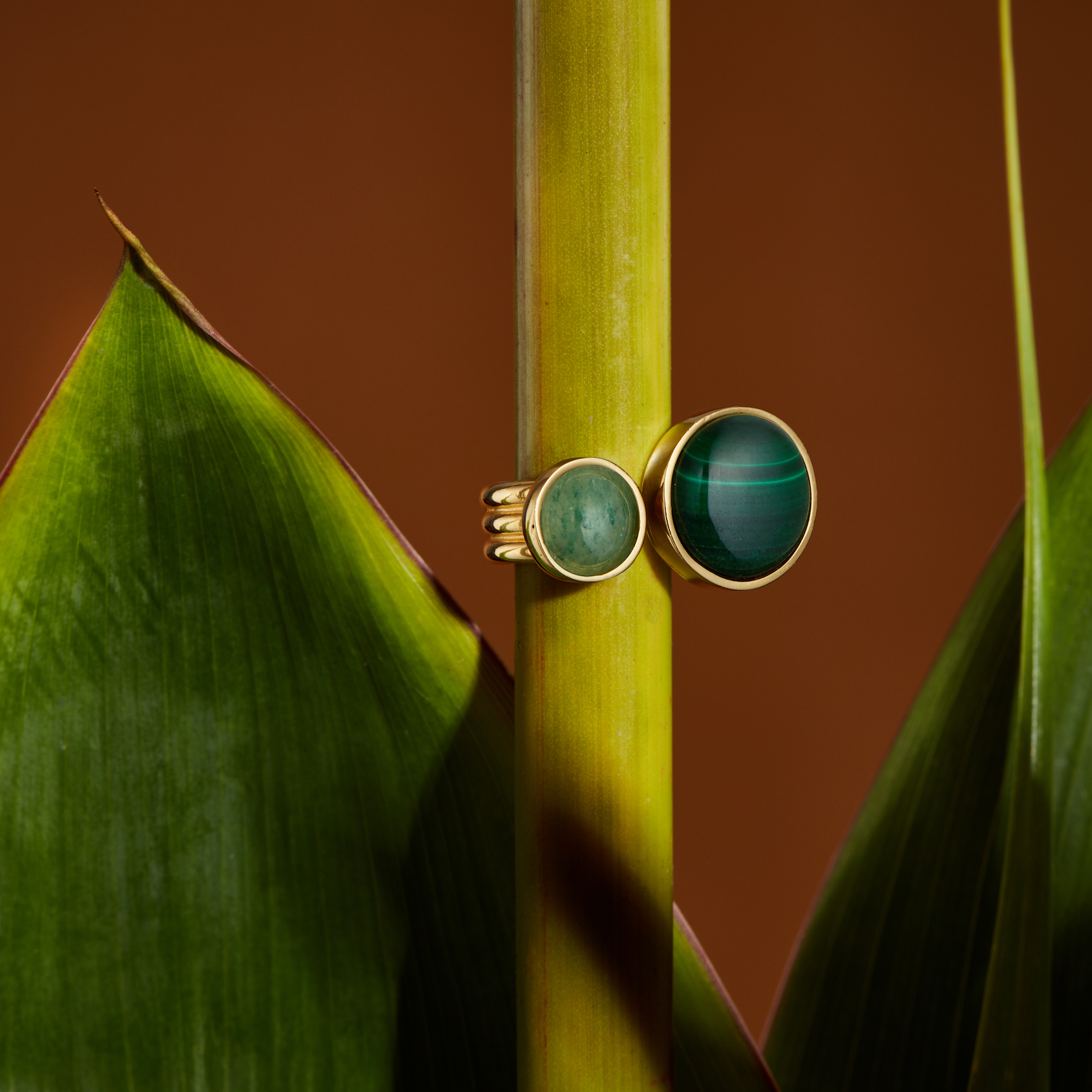 Cascada Ring, Malachite and Jade by Jill Hopkins Jewellery on curated-crowd.com