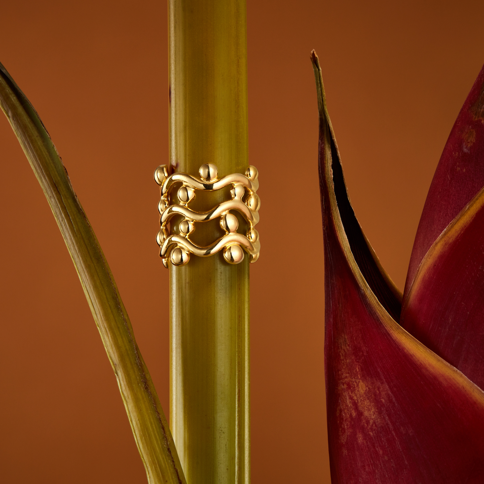 Curvez Trio Chunky Ring by Jill Hopkins Jewellery on curated-crowd.com