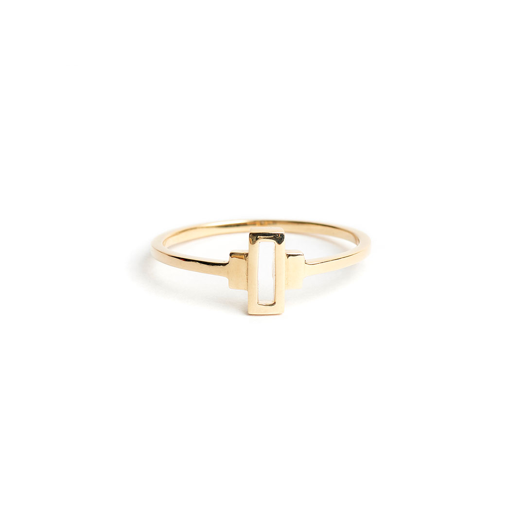 Keystone Ring, 14k Gold by The Straits Finery on curated-crowd.com