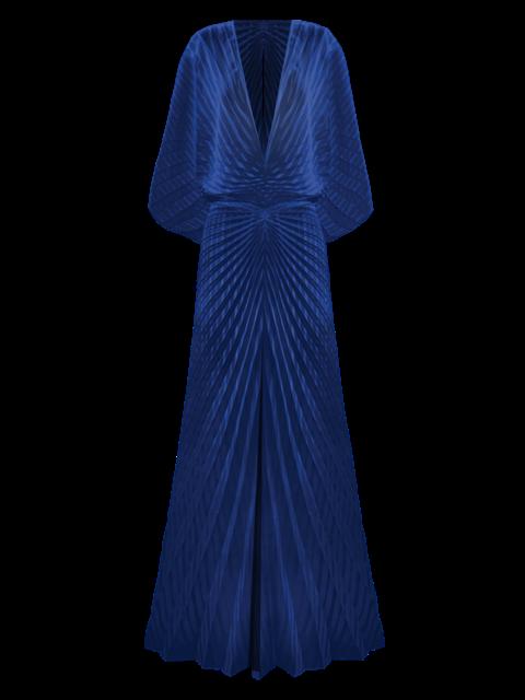 Illusion Kaftan, Navy Stripe by Georgia Hardinge on curated-crowd.com