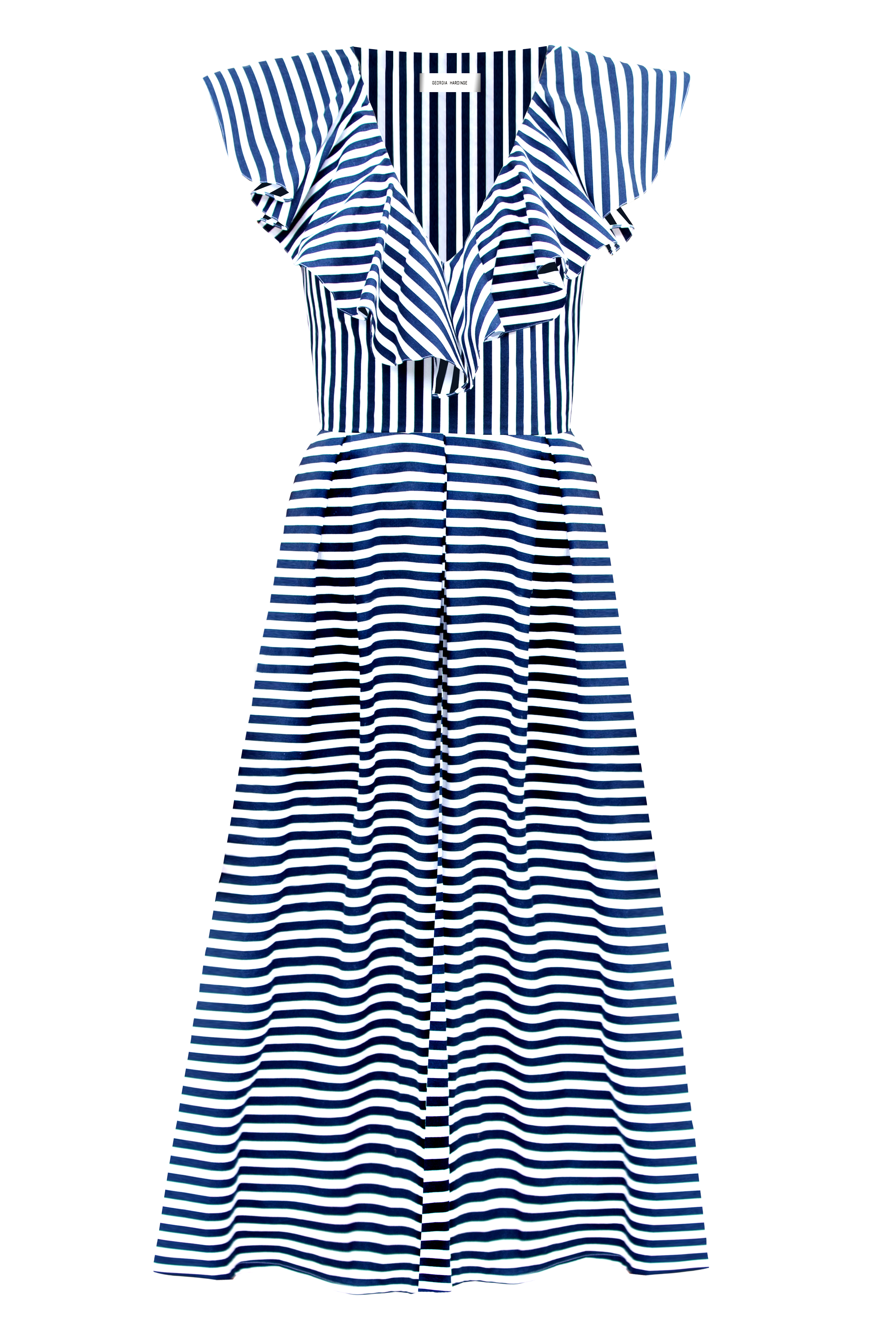 Linear Dress, Navy Stripe by Georgia Hardinge on curated-crowd.com
