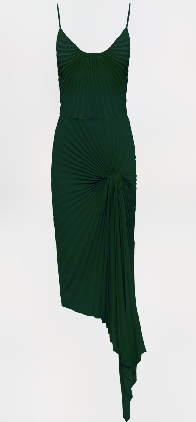 Dazed Dress, Bottle Green by Georgia Hardinge on curated-crowd.com