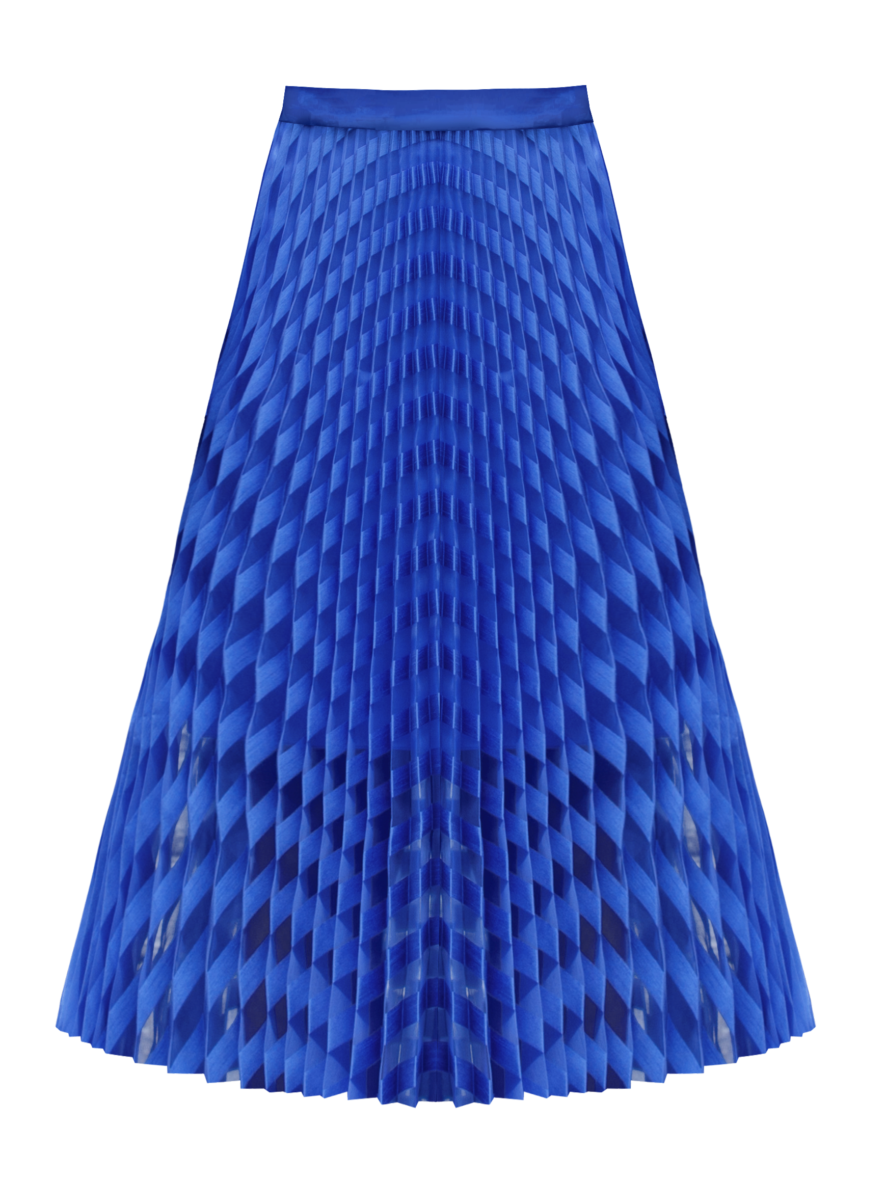 Spiral Skirt, Cobalt by Georgia Hardinge on curated-crowd.com