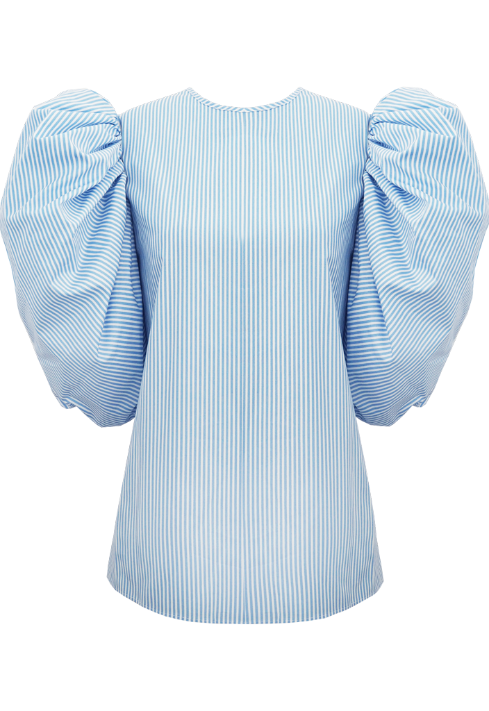 Beam Blouse, Pale Blue Stripe by Georgia Hardinge on curated-crowd.com