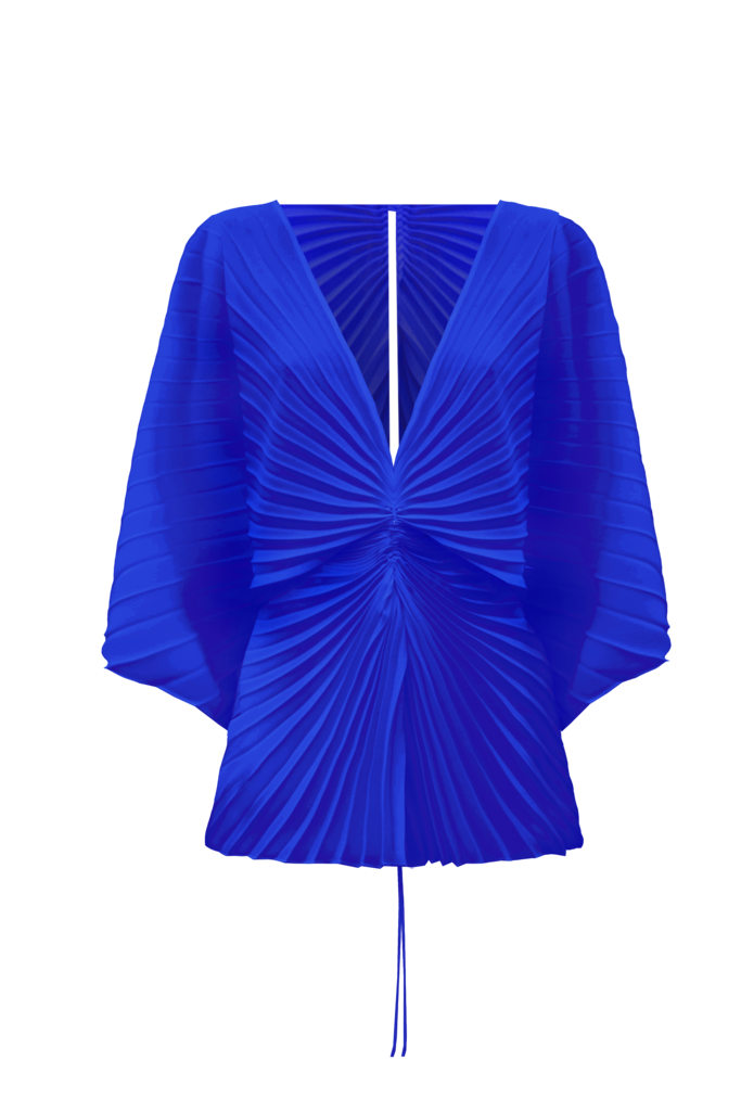 Illusion Top, Colbalt by Georgia Hardinge on curated-crowd.com
