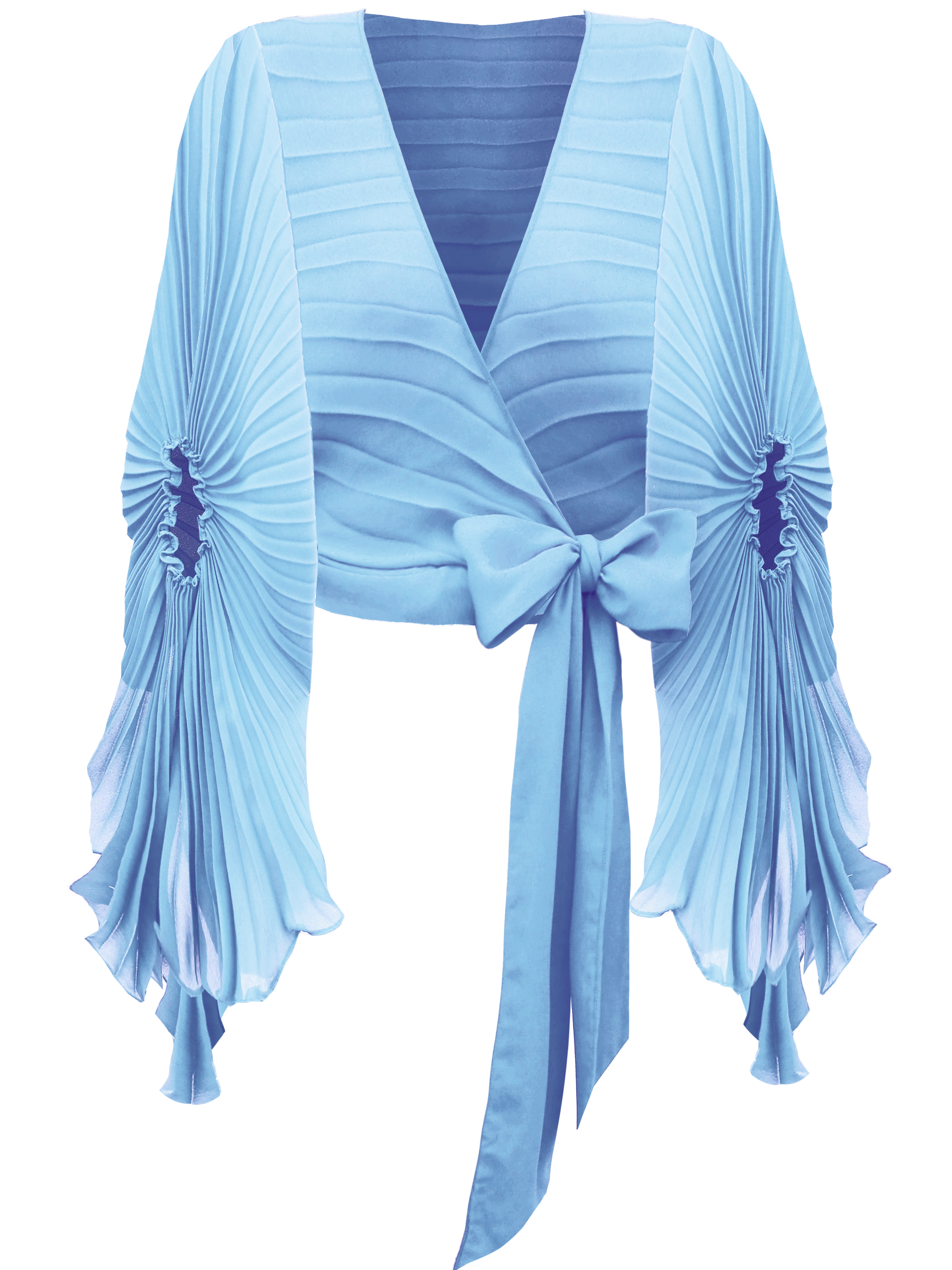 Beam Wrap Top, Candy Blue by Georgia Hardinge on curated-crowd.com