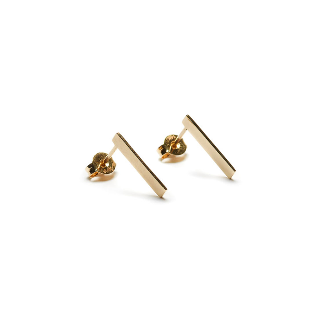 Edge Earrings, 14k Gold by The Straits Finery on curated-crowd.com