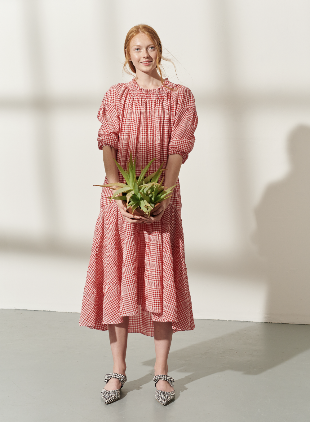 Clarendon Voile Midi Short Dress by Teija on curated-crowd.com