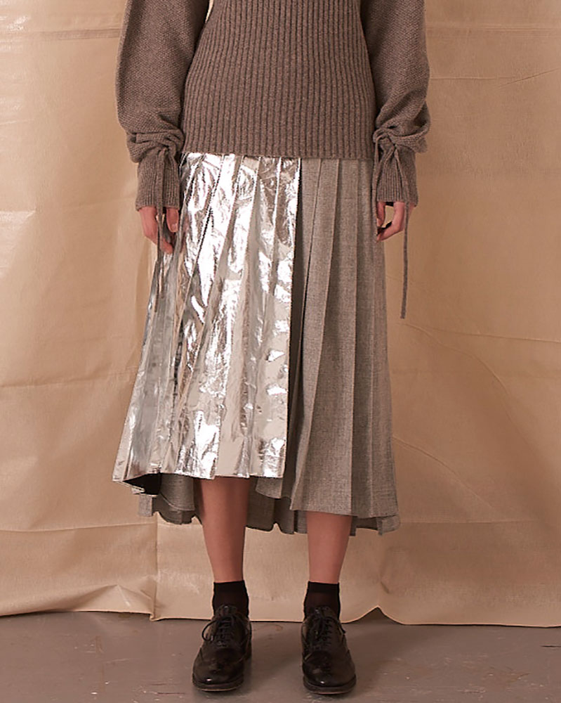 Asymmetrical Pleated Skirt by Teija on curated-crowd.com