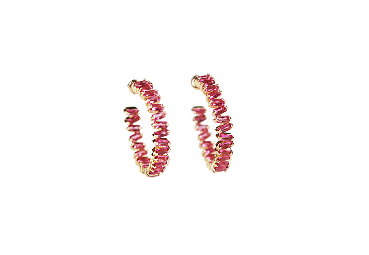 Floral Hues Earrings by Lalou London on curated-crowd.com