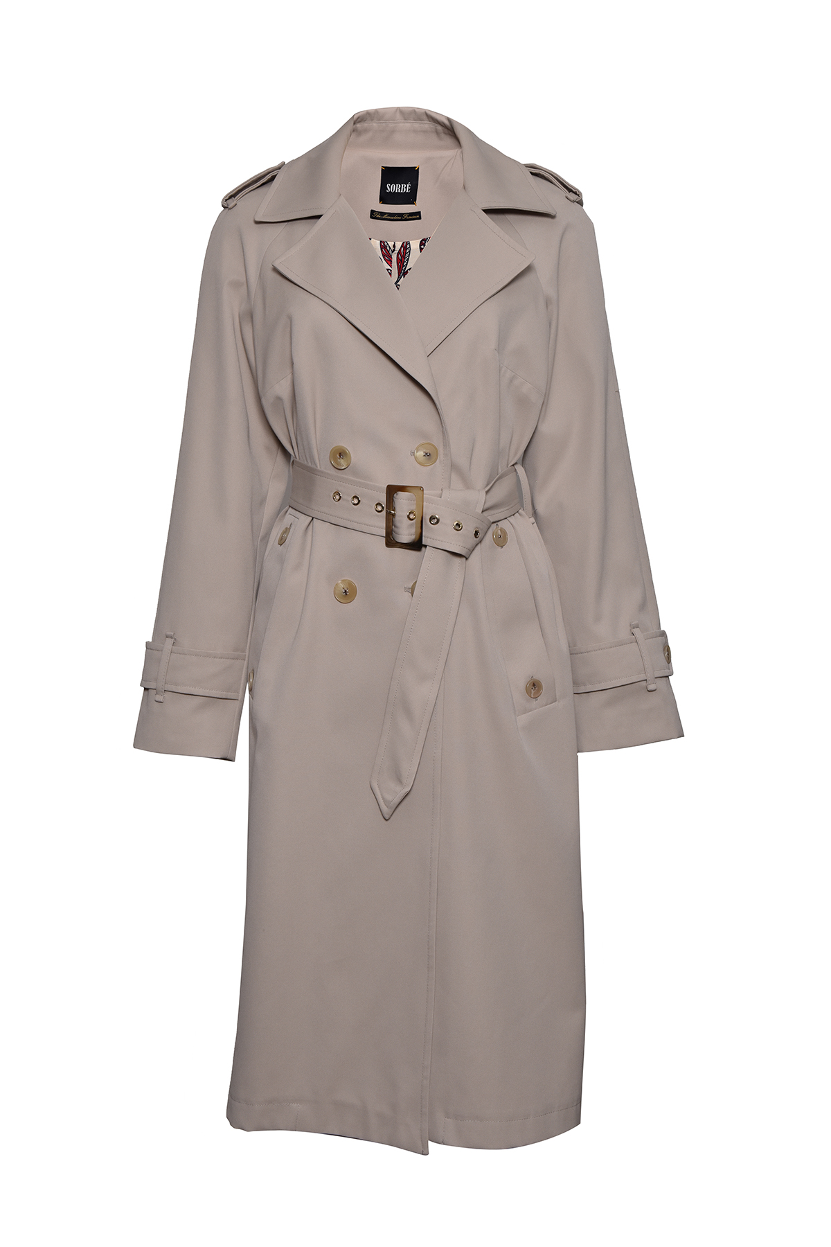 Trench Coat Double Breasted Epaulets by Sorbé on curated-crowd.com