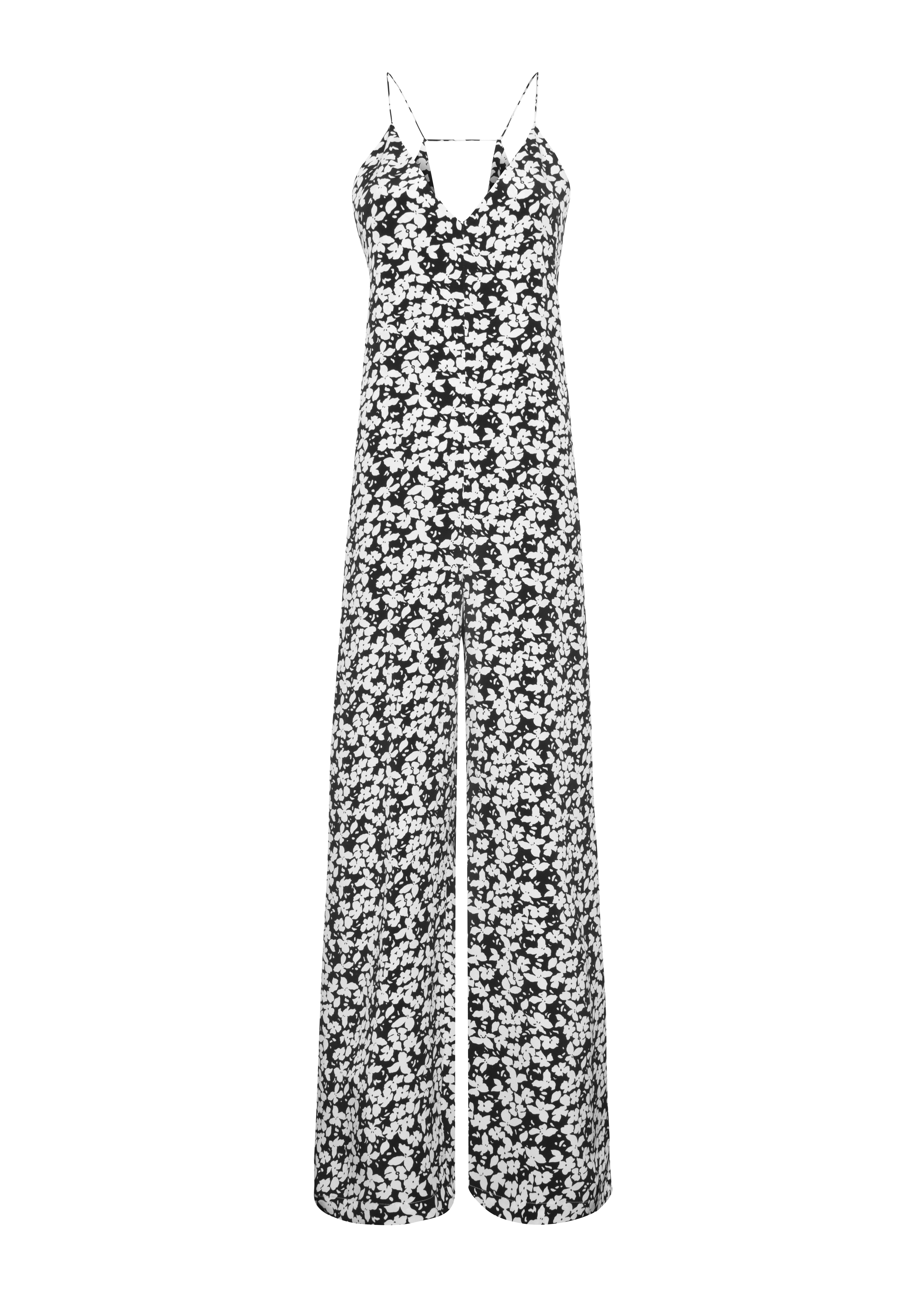 Fleurette Jumpsuit - Black by Podeny on curated-crowd.com
