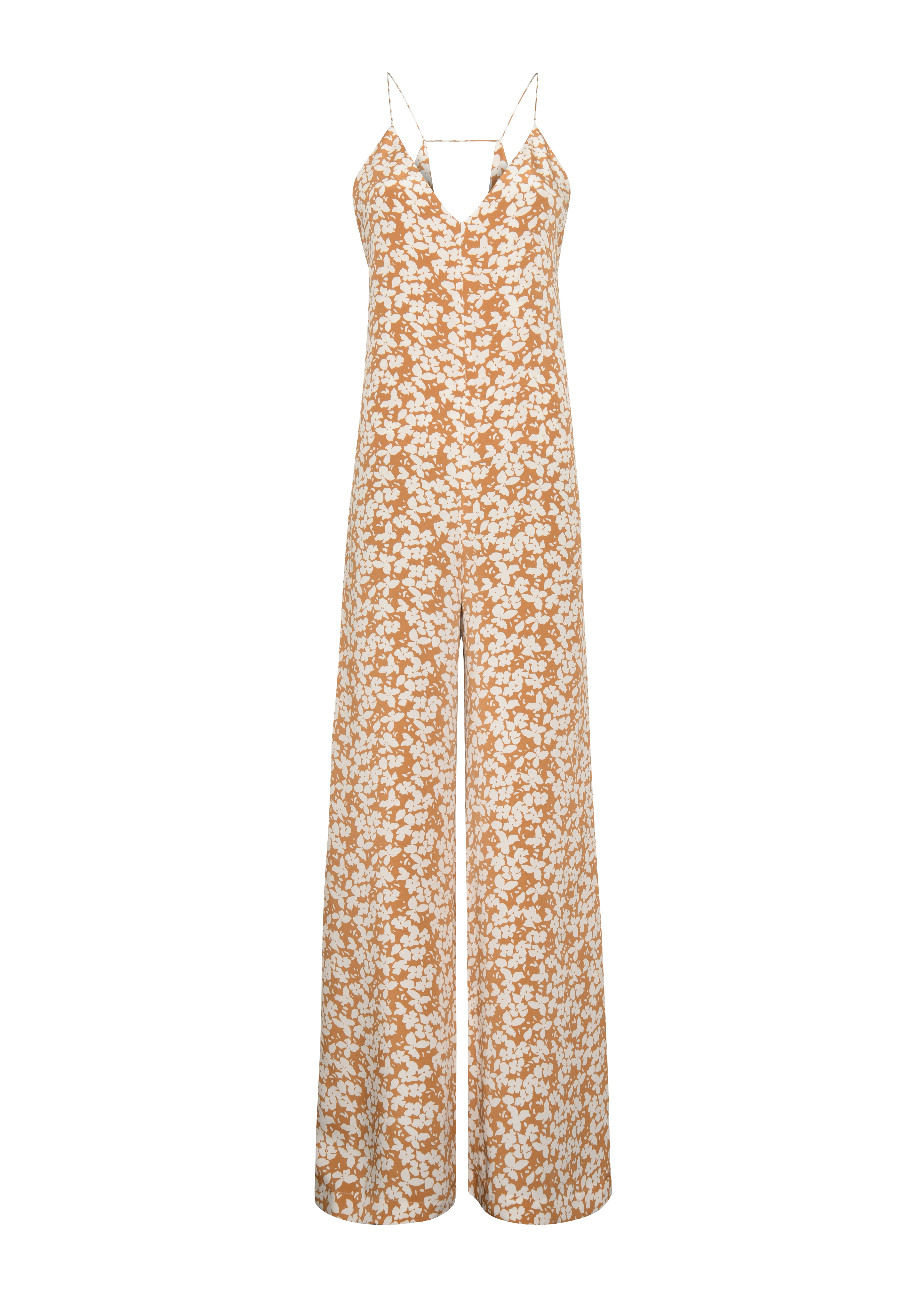 Fleurette Jumpsuit - Tangerine by Podeny on curated-crowd.com