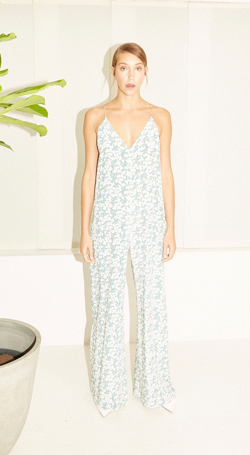 Fleurette Jumpsuit - Sage by Podeny on curated-crowd.com