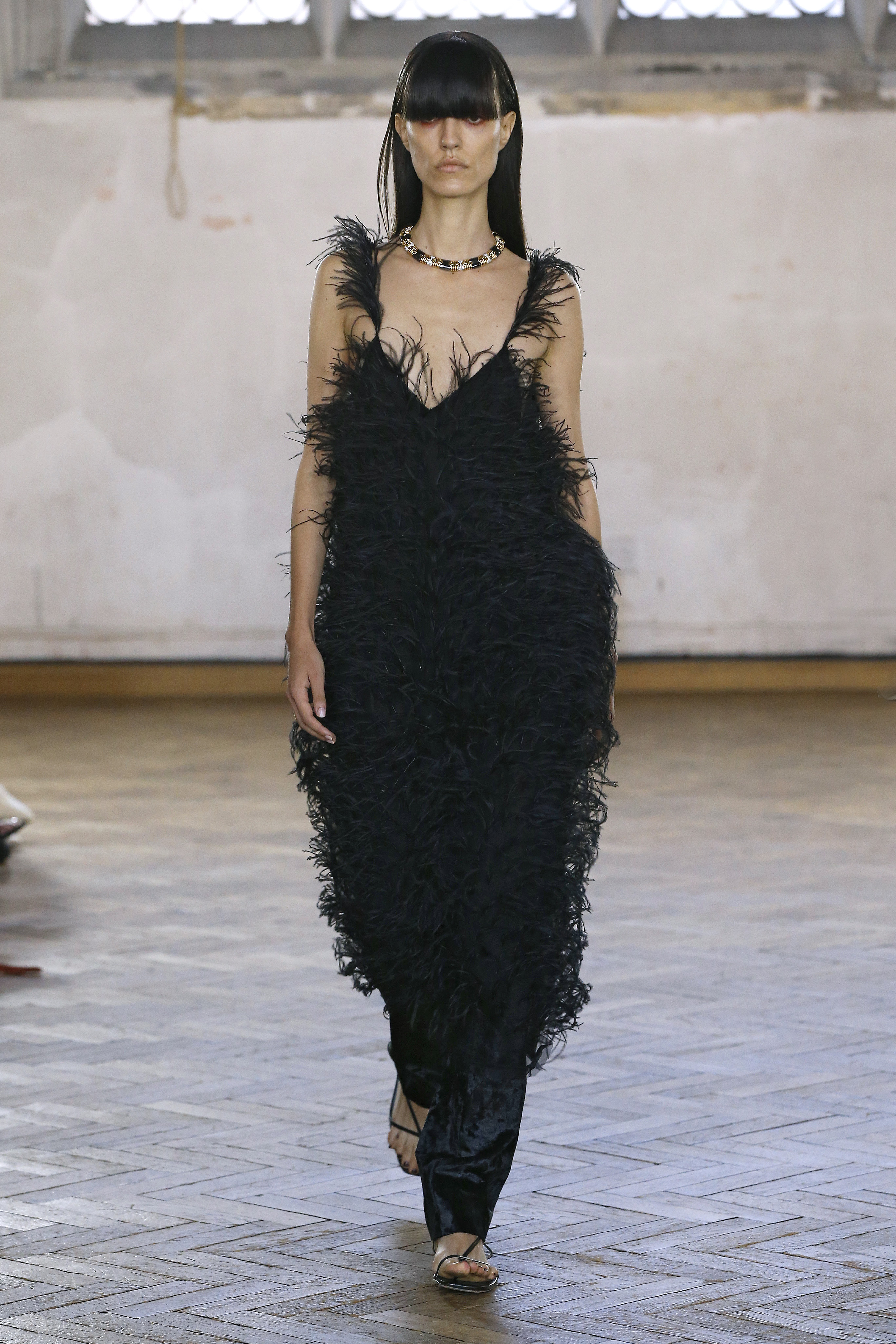 Feather Slip Dress by Sharon Wauchob on curated-crowd.com