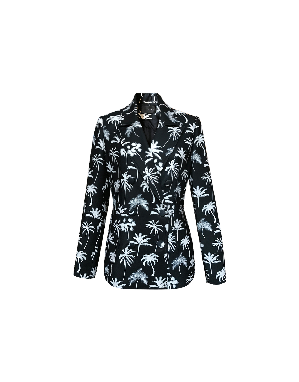 Whitney Blazer - Palm Print by Jessica K on curated-crowd.com