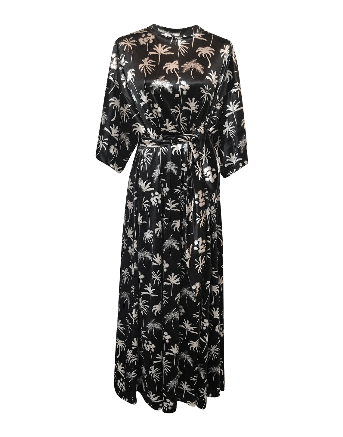 Catalina Dress - Palm Print by Jessica K on curated-crowd.com