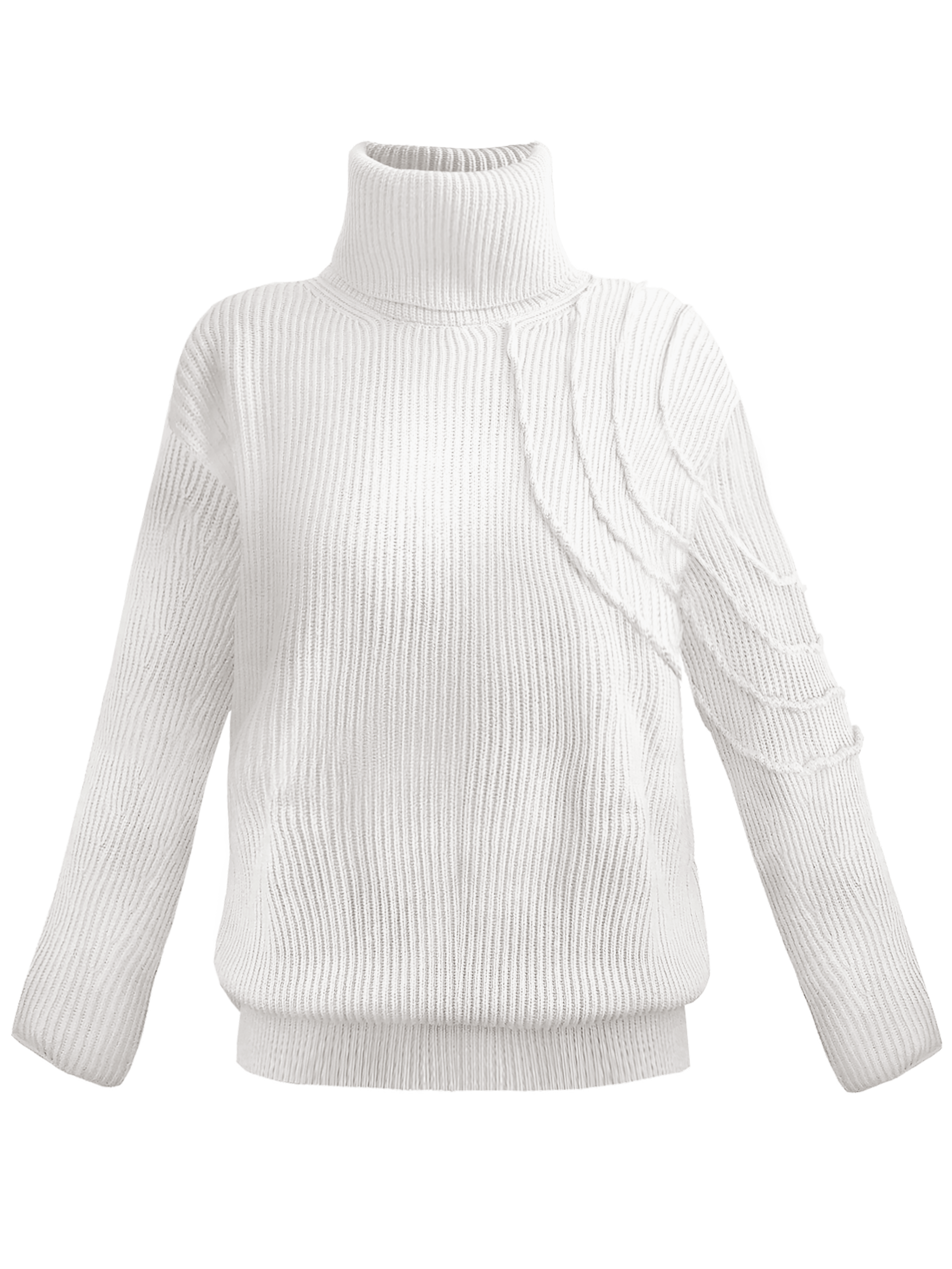 Lucid Turtleneck - White by Georgia Hardinge on curated-crowd.com
