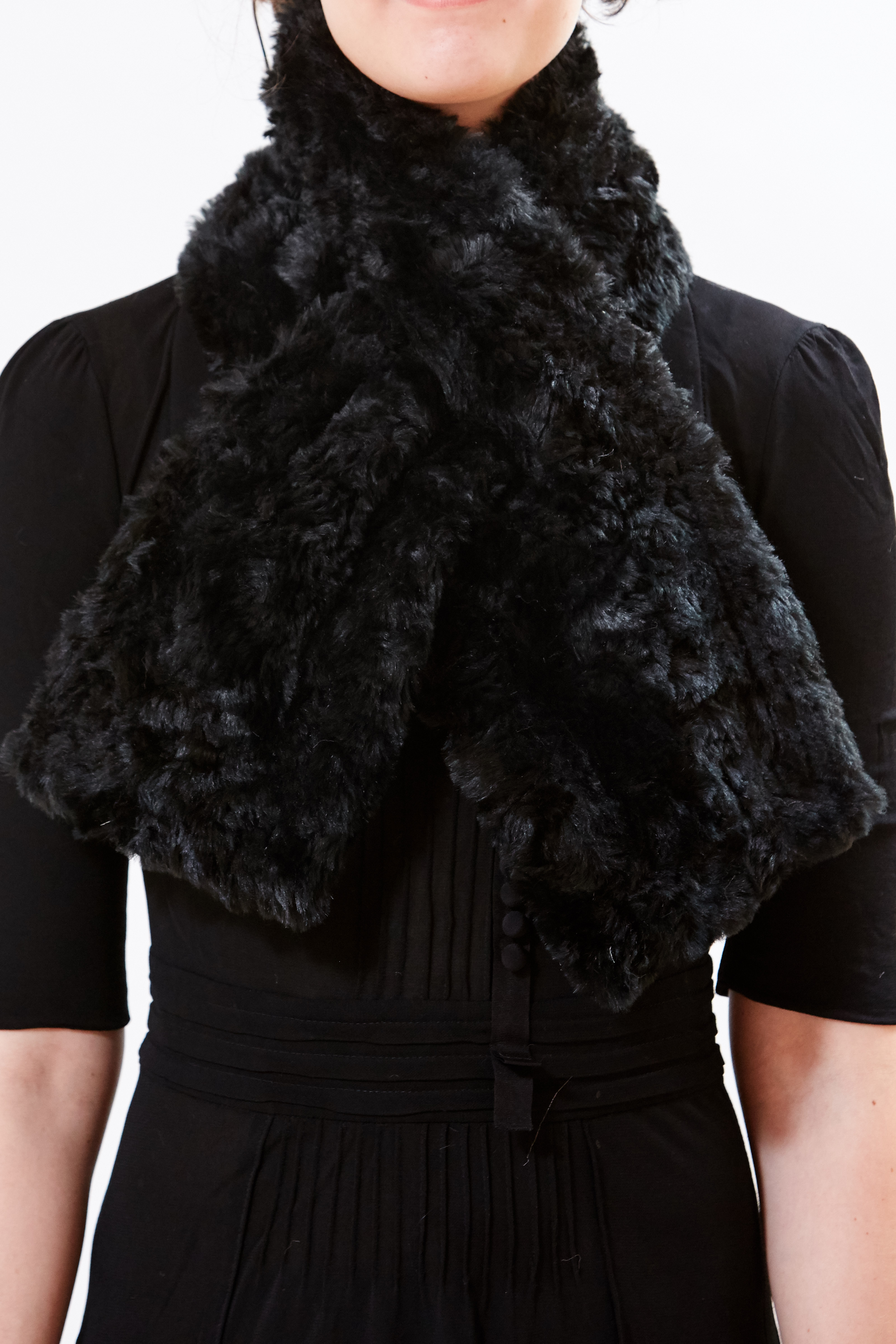 Scarf - Noir Reversible by Maison Atia on curated-crowd.com