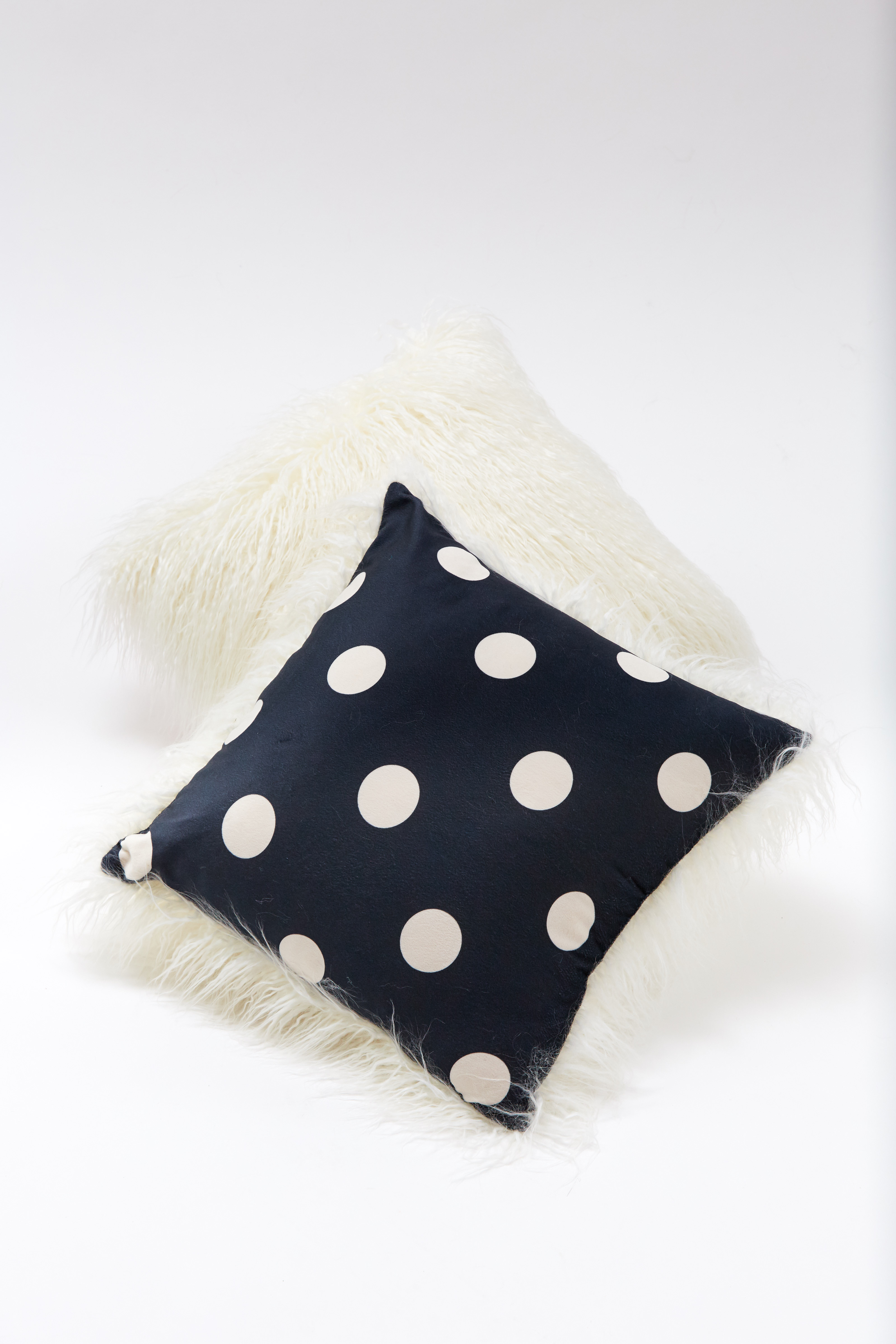 Pillow - Navy Polkadot by Maison Atia on curated-crowd.com