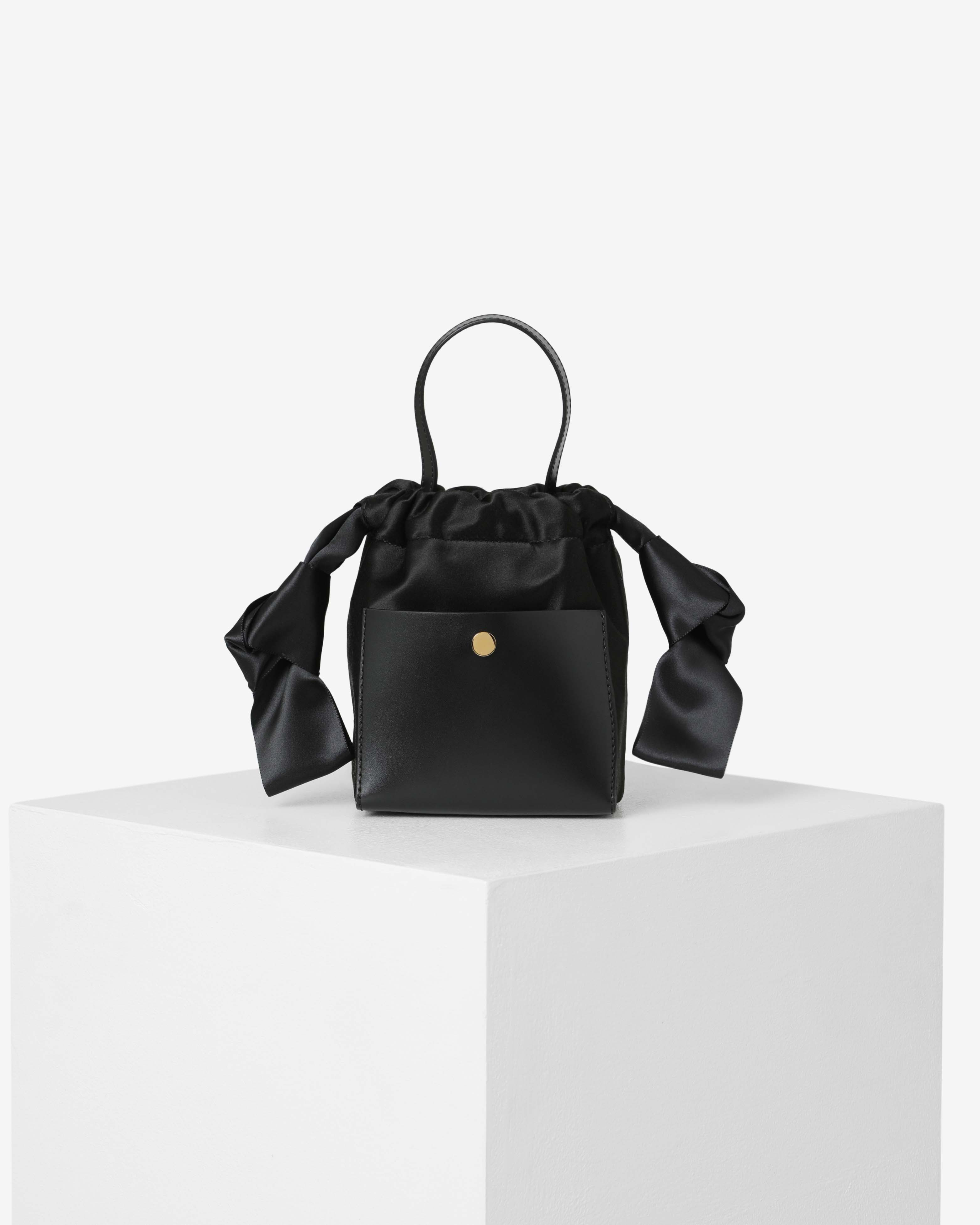 Black Satin Nano Knot by Sophie Hulme on curated-crowd.com