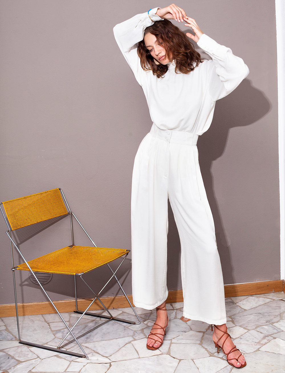 Cream Pants by Manurí on curated-crowd.com