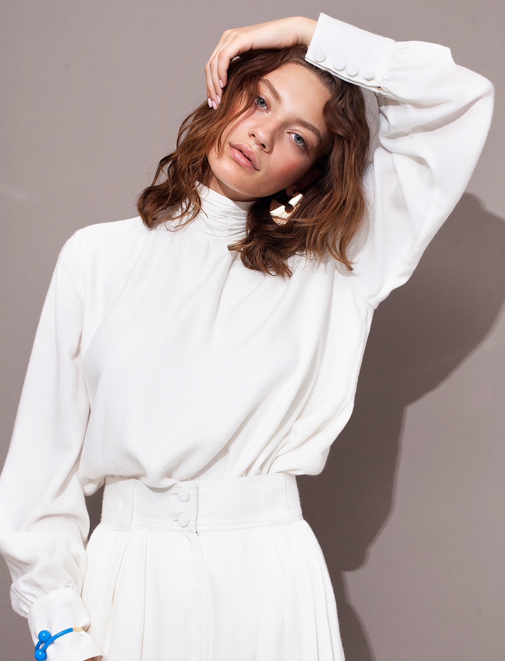 Kaleida Blouse - White by Manurí on curated-crowd.com