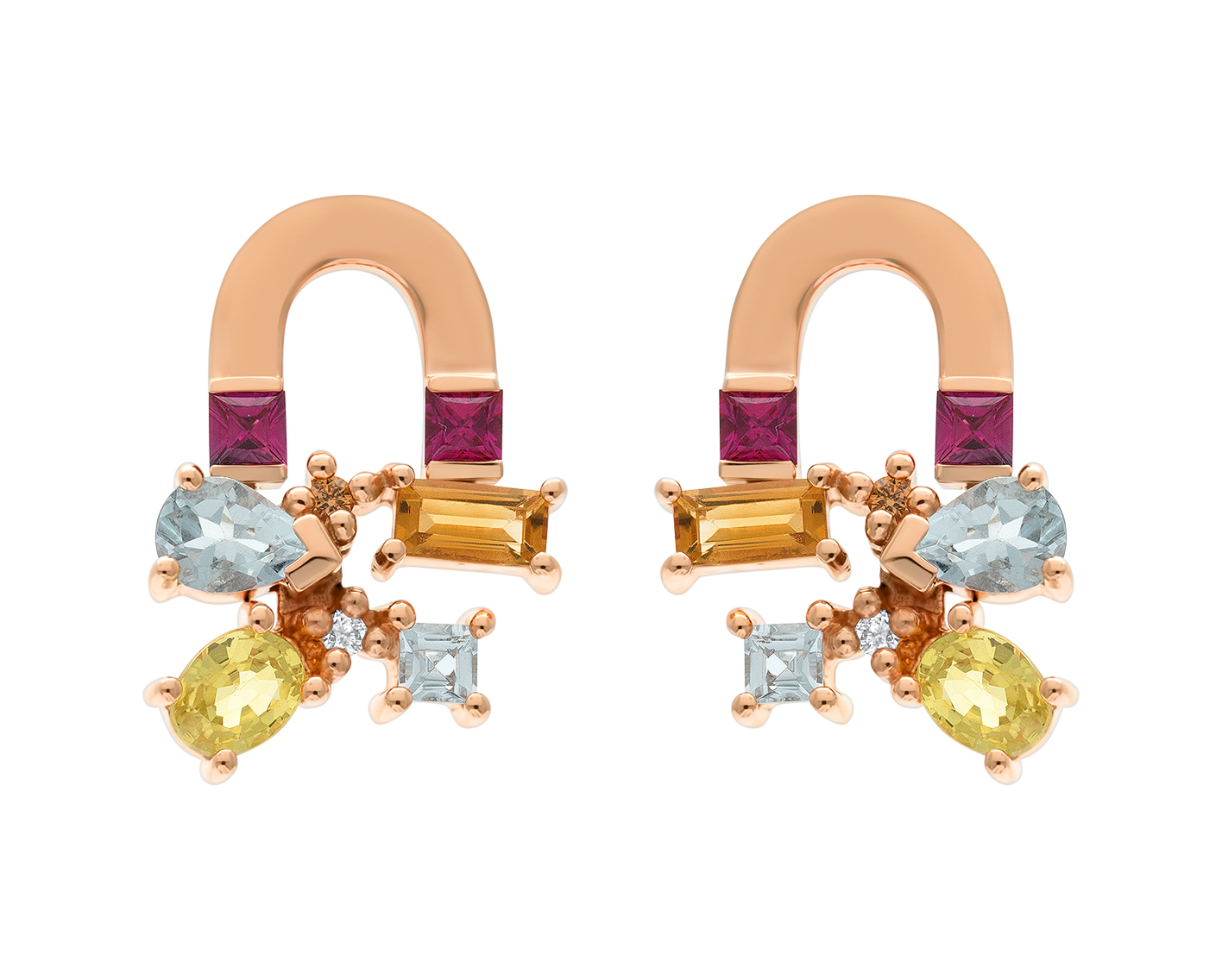 Sunset Attraction Earrings by Marmari on curated-crowd.com