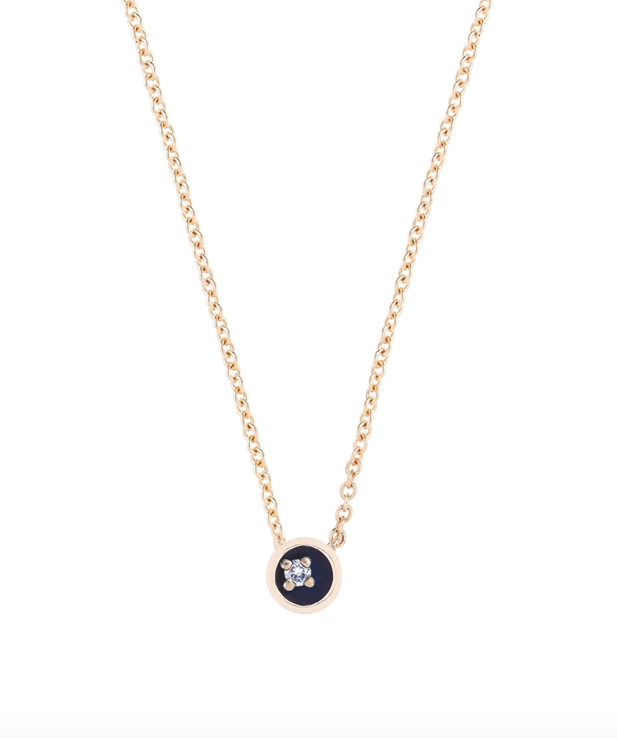 Small Floating Star Diamond Midnight Enamel Necklace by Marmari on curated-crowd.com