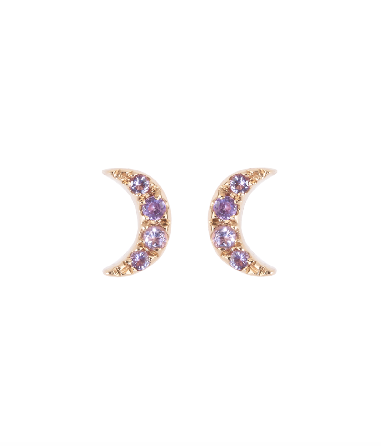 Moonlight Amethyst Earrings by Marmari on curated-crowd.com