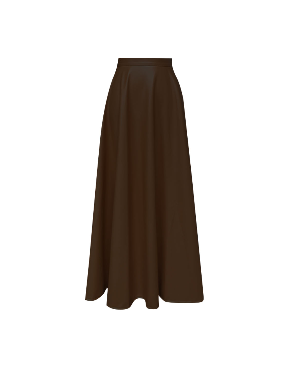 New Hibiscus Skirt - Brown Leather by Jessica K on curated-crowd.com