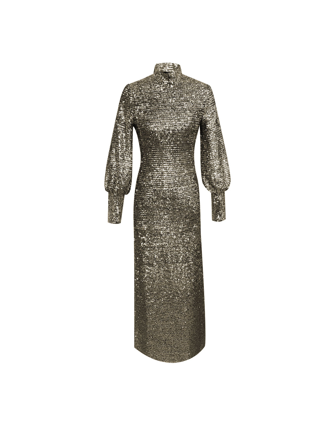 Como Dress Sequins - Gold by Jessica K on curated-crowd.com