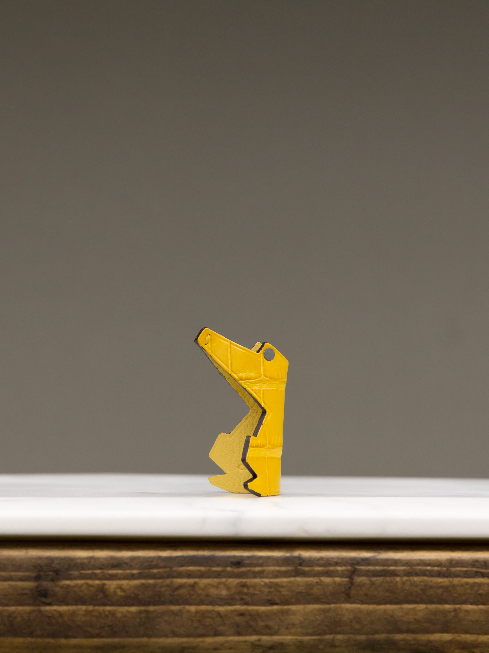 Baby Croco Keyring - Yellow by Chance Mystère on curated-crowd.com