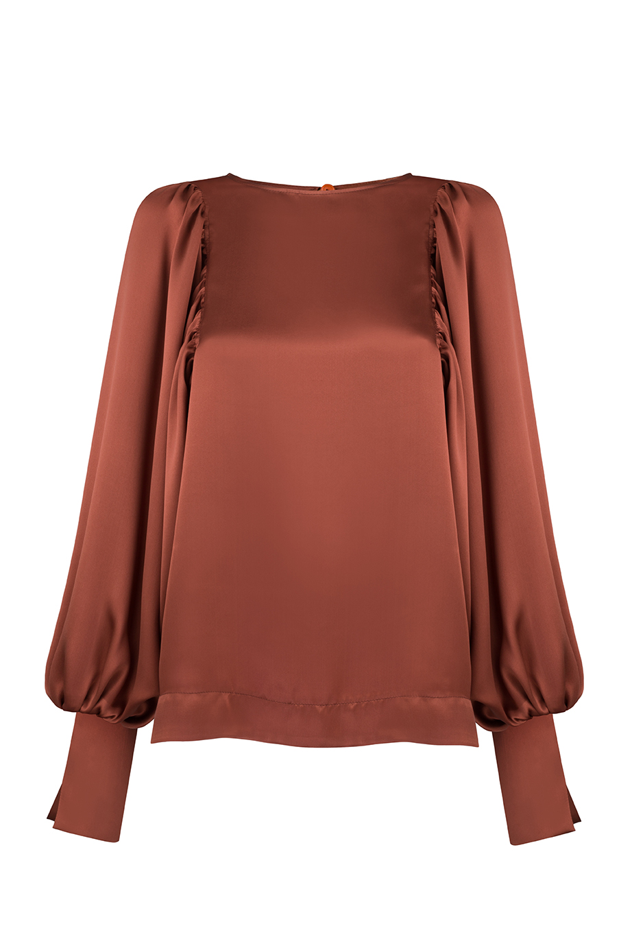Aida Shirt - Brown by Monica Nera on curated-crowd.com