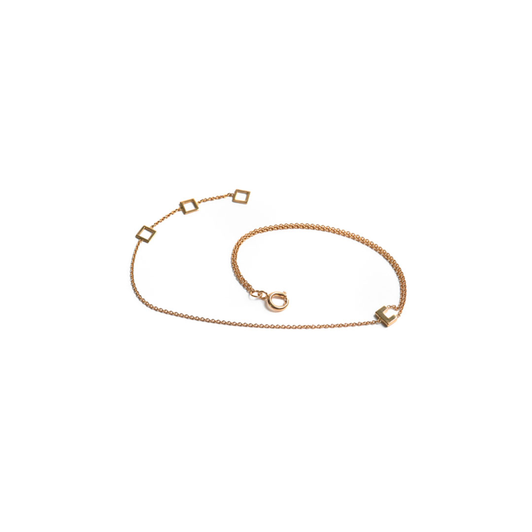 Frame Bracelet, 14k Gold by The Straits Finery on curated-crowd.com