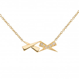 Two Kisses Diamond Pave Gold Pendant by Daou Jewellery on curated-crowd.com