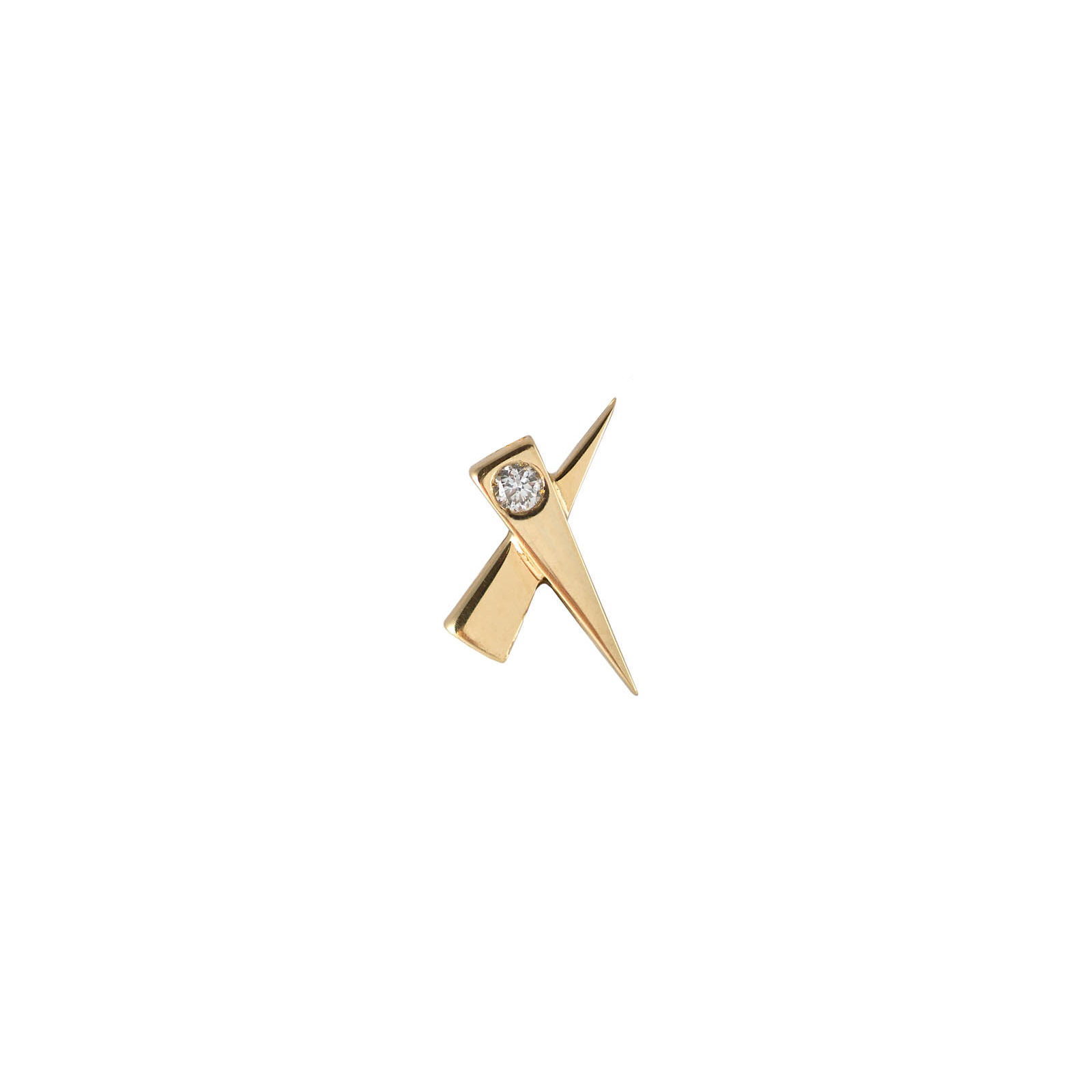 Single Diamond Kiss Gold Earring by Daou Jewellery on curated-crowd.com