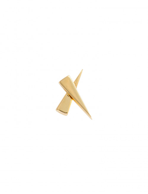 A Kiss Single Gold Earring by Daou Jewellery on curated-crowd.com