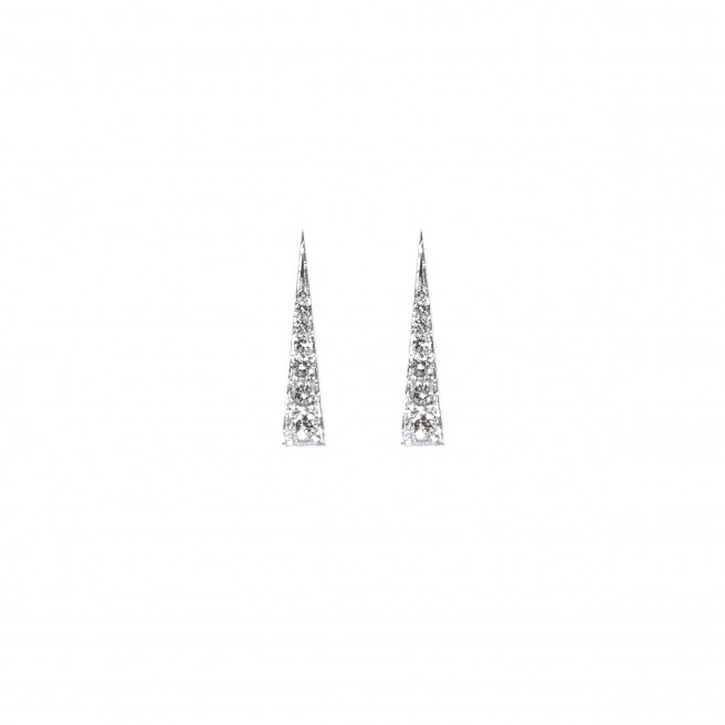 Spark Earrings – Diamond White Gold by Daou Jewellery on curated-crowd.com