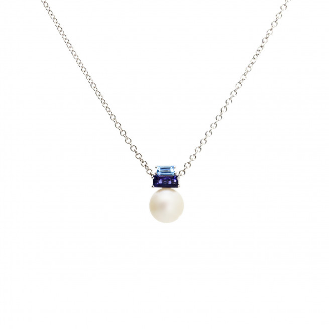 Sunset Sunrise Light Pearl Pendant – White Gold by Daou Jewellery on curated-crowd.com