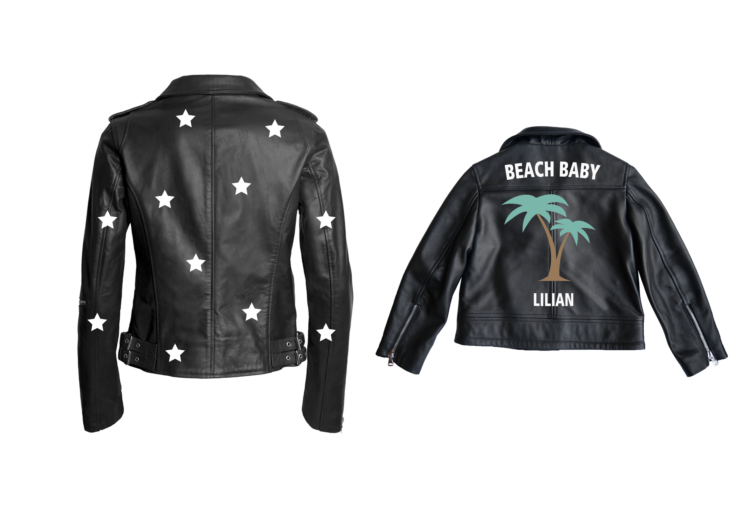 Custom Leather Jacket for Mum & Kids by Jn Llovet on curated-crowd.com